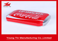 Rectangle Lip Smacker Metal Cosmetic Tins Recyclable 150 x 85 x 30 MM With Embossing