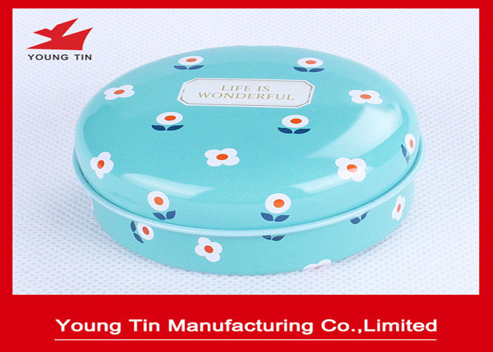 Round Printed Tin Boxes , Metal Tinplate Oil Paint Packaging Containers With Lid