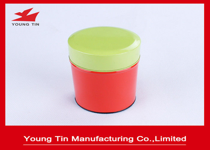 0.23 MM Tinplate Metal Type Custom Printed Mini Round Tin Container With Cap