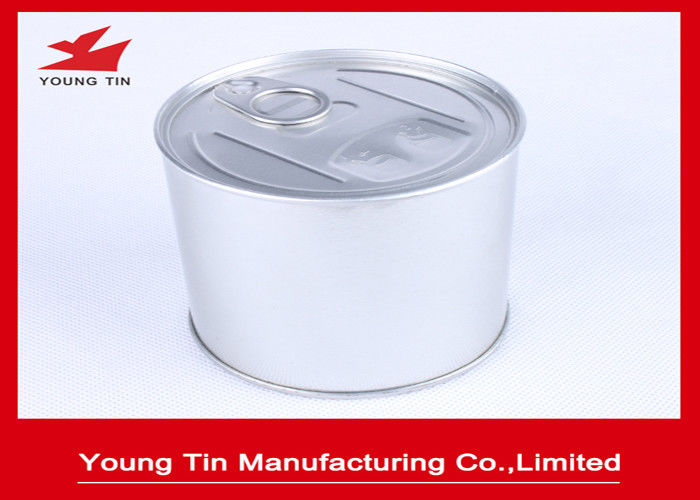 Plain color Tinplate Round Food Packaging Gift Tin Containers With Easy Open Lid