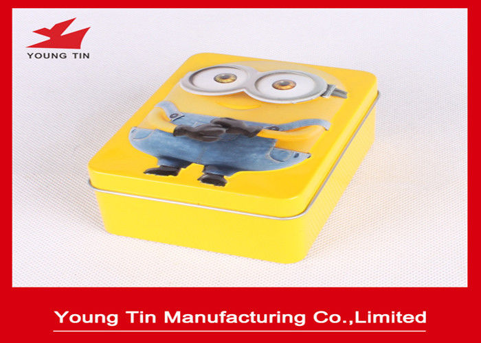 Metal Tinplate Custom Artwork Embossed Candy Tin Cans With 0.23 MM Cover