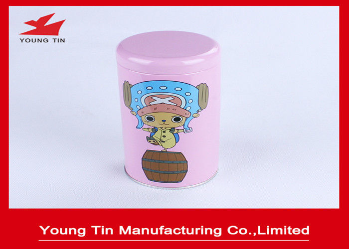 CMYK Printed Cylinder Round Empty Tins With Lids SGS FDA Certification
