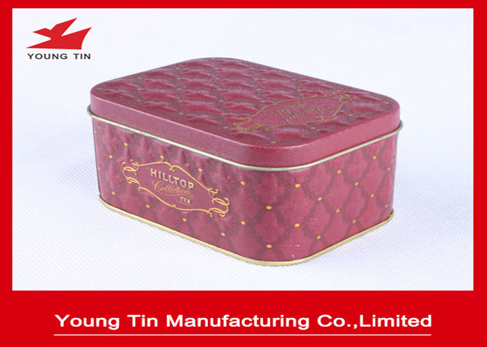Mini Rectangle Tinplate Metal Tin Containers CMYK Printing For Food Packaging