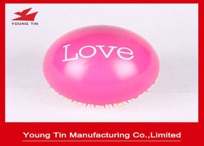 Food Grade Metal Full Color Printed Ball Shaped Tin Box For Christmas Gifts Packaging