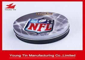 95 x 30 MM Printed Tin Boxes CMYK Offset Printing Outside , YT1014 Round Metal Tin Coasters Set